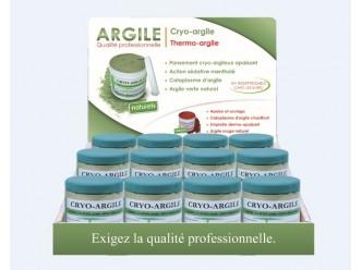 Présentoir cryo-argile