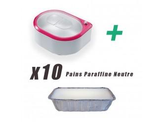Chauffe paraffine + 10 pains neutres