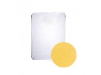 Drap housse éponge : jaune clair